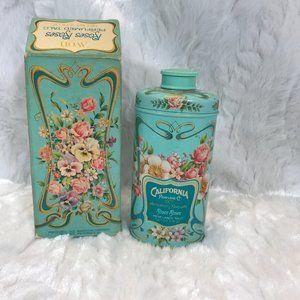 Vintage Avon Talc Tin with Box